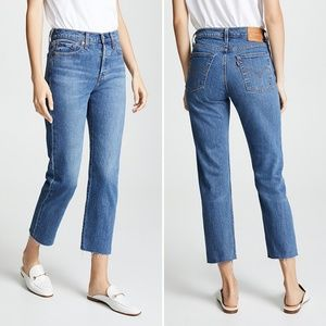 Levi's Wedgie Straight Jeans High Rise Button Fly